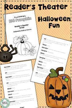 Big Pumpkin Book Unit: Retelling, Sequencing, Reader's Theater