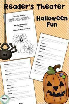 Big Pumpkin Book Unit: Retelling, Sequencing, Reader's Theater