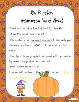 Big Pumpkin Interactive Read Aloud