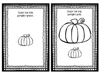 Big Pumpkin, Little Pumpkin Book for Speech and Language