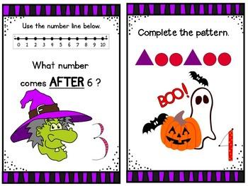 Big Pumpkin Math Task Cards   ( Halloween )
