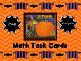 Big Pumpkin Math Task Cards   ( Halloween )