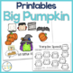 Big Pumpkin Speech and Language Book Companion