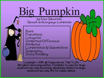 Big Pumpkin: Speech and Language Companion