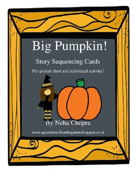Big Pumpkin Story Sequencing Cards