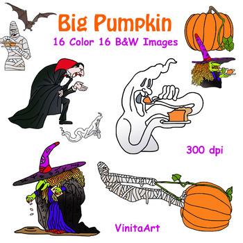 Big Pumpkin storybook clip art
