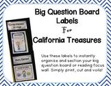 Big Question Board Labels For California Treasures BLUE