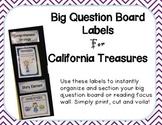 Big Question Board Labels For California Treasures PURPLE