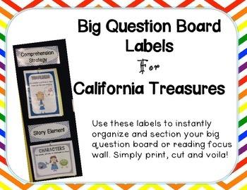 Big Question Board Labels For California Treasures RAINBOW