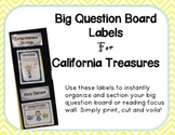 Big Question Board Labels For California Treasures YELLOW