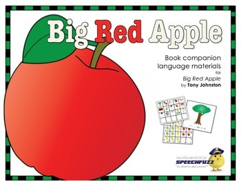 Big Red Apple Book Companion Materials for Speech-Language Therapy