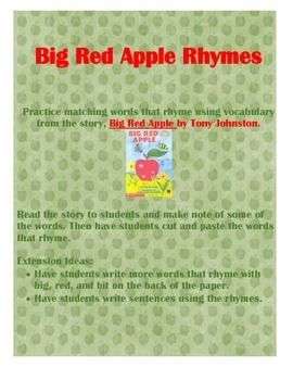 Big Red Apple Rhymes