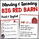 Big Red Barn Chant for Reinforcing Rhyming, Phoneme Substitution and Sight Words