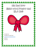 Big Red Bow sight word poetry and ELA unit