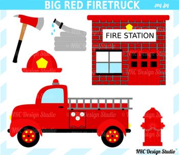 Big Red Firetruck Clip Art