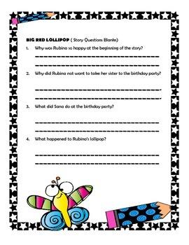Big Red Lollipop - Reading Grade 2 Supplementary Packet
