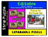 Big Rig Semi Truck - Expandable & Editable Strip Puzzle w/