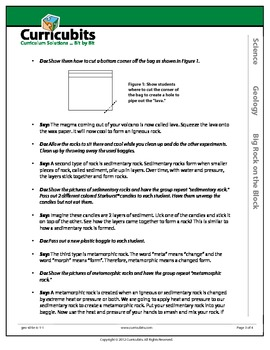 Big Rock on the Block | Theme: Geology | Scripted Afterschool Activity