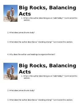 Big Rocks, Balancing Acts Mini-Quiz