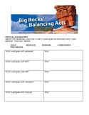 Big Rocks, Balancing Acts Study Guide