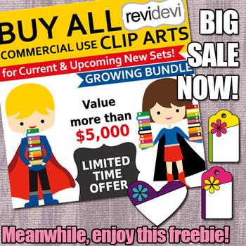 Big Sale and Spring Clip Art Freebie