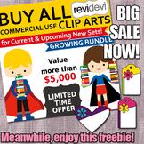 Big Sale and Spring Clip Art Freebie