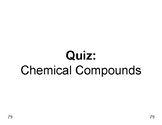 Matter  11  Rapid Multiple Choice QUIZ on Chemical Compounds