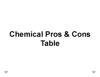 Big Science 1  Matter  14  Chemical Pros & Cons Table