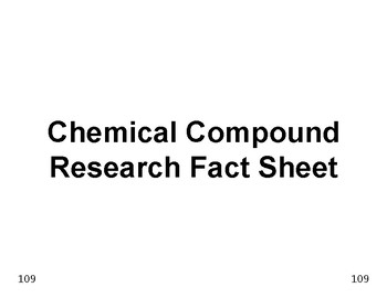Big Science 1  Matter  16  Chemical Compound Research Fact Report