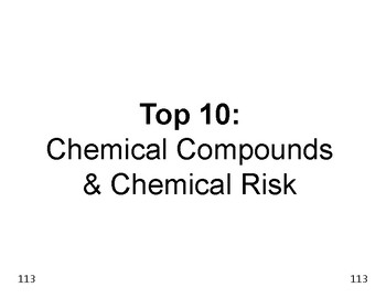 Big Science 1  Matter  17  Chemical Compounds & Benefits &