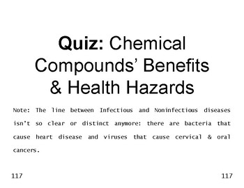 Matter 18 Rapid m c  QUIZ on Benefits & Health Hazards of Chemical Compounds