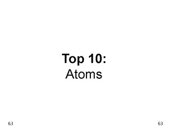 Big Science 2  Atomic Struct  08  Atoms Top 10 Facts