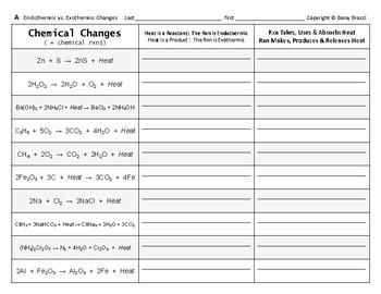 Big Science 4  Props & Changes  16  Endothermic vs. Exothermic Changes