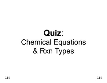 Big Science 4  Props & Changes  19  Chemical Equations & R