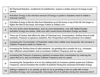 Properties & Changes 28  Top 10 Facts about Activation Energy & Rxn Rate Factors