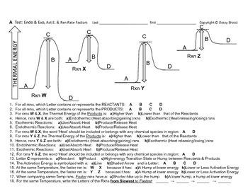 Big Science 4  Props & Changes  29 Endo & Exothermic, Activtn E., Rxn Rates TEST