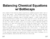 Properties & Changes 31 Handy Sheets Balancing Chemical Equations w/ Bottlecaps