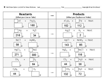 Properties & Changes 36  Handy tool Balancing Mass & Atoms in Chemical Equations