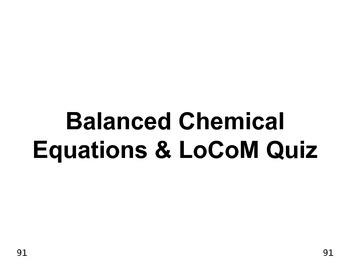 Big Science 4  Props & Changes  40  Balanced Chemical Equa