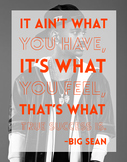 Big Sean Motivational Classroom Poster