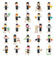 Big Set Human Character Cliparts (occupation characters)
