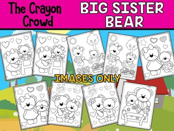 Big Sister Bear - The Crayon Crowd Coloring Pages, Going to be big sister