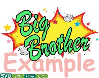 Big Sister Little Brother Superheroes clipart Pop Art Text Props t-shirt  -280s