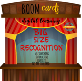 Big Size Recognition for Distance Learning - Boom Cards /