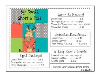 Big, Small, Short & Tall (Having Fun with Measurement)