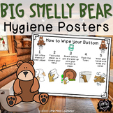 Big Smelly Bear Hygiene Posters: Wash Hands, Wipe Bottom,