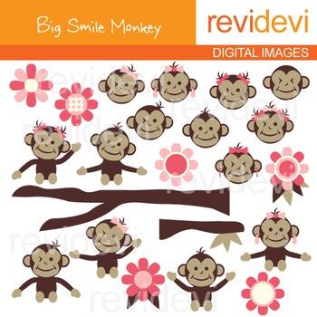 Big Smile Monkey Clip art