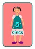 Big Spanish Numbers 0 to 10  Flashcards .Cute dolls pictur