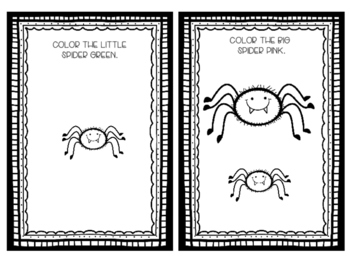 Big Spider, Little Spider- Concept Book for Speech Therapy