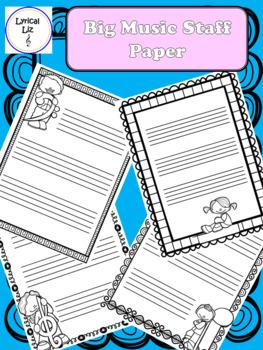 Big Staff Paper (Black and White)